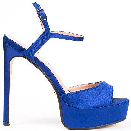 Ideal Shoes, Damen Pumps Blau