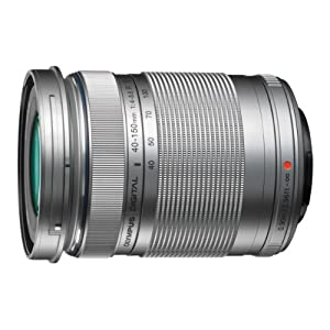 Olympus M. 40-150mm F4.0-5.6 R Zoom Lens (Silver) for Olympus and Panasonic Micro 4/3 Cameras - International Version (No Warranty)