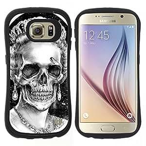 "Pulsar iFace Series Tpu silicona Carcasa Funda Case para Samsung Galaxy S6 , Dios reina Corona Cráneo Muerte Inglaterra"""