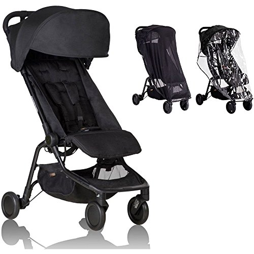 - Mountain Buggy - Nano 2 Stroller - Black with All Weather Cover Pack
