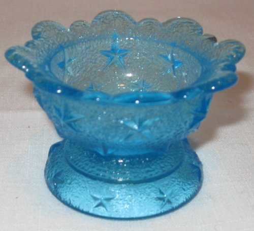 Small Blue Compote Dish unmarked