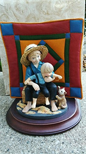 Amish Heritage Collection Figurine #30013 LIMITED EDITION Eli and Benjamen wBox (Collection Figurine Limited Edition)