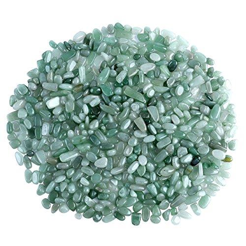 Top Plaza Natural Green Aventurine Tumbled Chips Crushed Stones Reiki Healing Quartz Crystals Irregular Shaped Gemstones 0.45lb ()