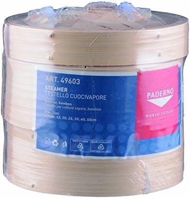 Paderno World Cuisine Set de Cuisson Vapeur Bambou 6 1/4in gris