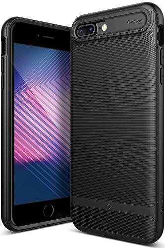 Caseology Wavelength for iPhone 8 Plus Case (2017) / iPhone 7 Plus Case (2016) - Stylish Grip Design - Matte Black