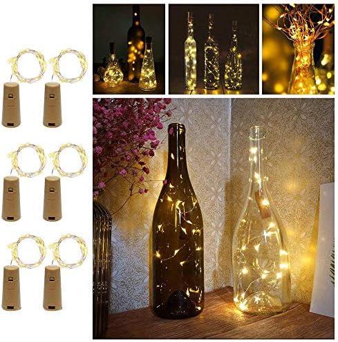 Knopf Kupferdrahtschnur Lichter 2M 20LEDs Weinflasche Lichter für Weihnachten