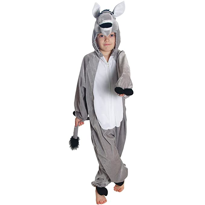Panto-Animals-Farm-Unisex-DONKEY ALL IN ONE Costume All Ages /& Adult Sizes