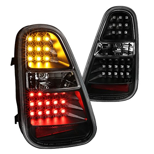 Mini Cooper S Black LED Turn Signal Parking Rear Brake Lamps Tail Lights - S Cooper Light