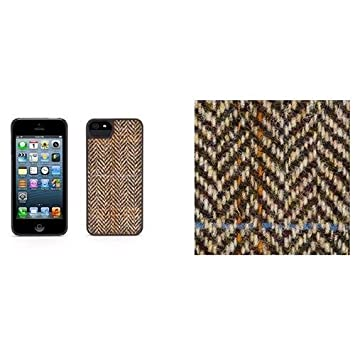 Sonstige Harris Tweed Iphone Case Grey/black Herringbone Pattern New Kleidung & Accessoires