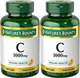 Nature's Bounty Vitamin C, 1000mg, 100 Caplets (Pack of 2)