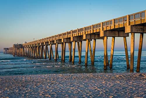 Panama City Beach, Florida - Pier - Photography A-93414 (24x36 Fine Art Giclee Gallery Print, Home Wall Decor Artwork ()