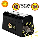 Verfanny Electronic Rat Traps,Effective and Powerful killer for Rat,Squirrels Mice and Other Similar Rodents, Using High Voltage Humane Exterminating - Best Pest Control/2018 Upgraded Version