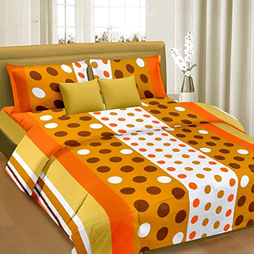 Cortina Cotton Double Bedsheet with 2 Pillow Cover (PDB-003-D)