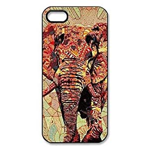 Elephant Pattern Plastic Hard Case for iPhone 5/5S