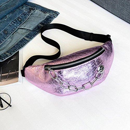 bandolera plisado cuero para de Rosado Mini Rosa Riñoneras Multifunción Gusspower para Cintura mujer Moda Niñas Bolso de Cinturón de Celular Mujeres Mujeres Bolso de Cuero Bolsa 1IwWtq5
