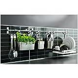 Acciaio inossidabile resistente, Multi-uso, coperchio, griglia, Contenitore per utensili da cucina-Binario portasciugamani/)