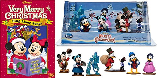 Disney Holiday Disney's Sing Along Songs - Very Merry Christmas Songs & Special Edition Christmas Carol Figurines, Set of 7 characters Animated movie (Songs Along Christmas Special Sing)