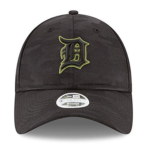 (New Era Women 's Authentic Detroit Tigers Memorial Day 9TWENTY Adjustable Hat - Black/Camo )