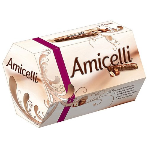 Chocolate Covered Wafer - Amicelli Chocolate Covered Wafers with Hazelnut Filling