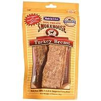 Smokehouse - 100% de golosinas naturales para perros de pechuga de pavo, 3 onzas