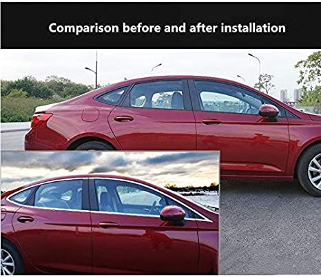 Lanyifang 1Rotolo 10mm*15m Nastro Decorativo per Decorazione Styling Auto con Striscia Cromata Argento PVC Striscia di Finitura per Finestrini