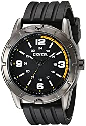 Geneva Men's FMDJM513 Analog Display Quartz Black Watch