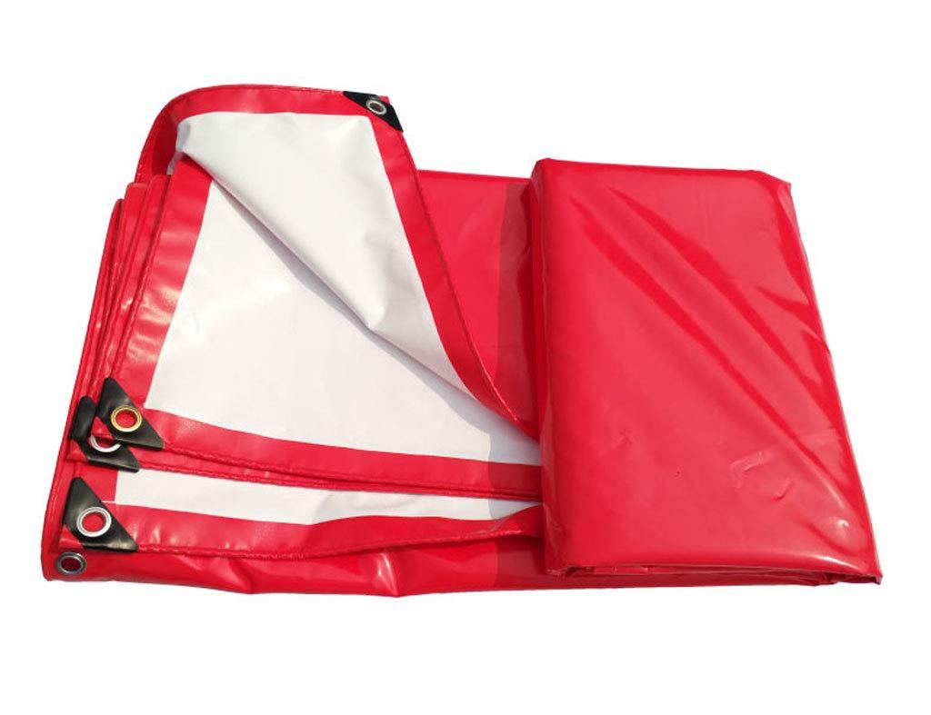 赤と白のデュアルユースのPVCの雨布キャノピートップ布防水日焼け止め耐摩耗性のお祝いのテントのトラックプッシュプル、様々なサイズ (サイズ さいず : 4m*6m) 4m*6m  B07J59LDK2