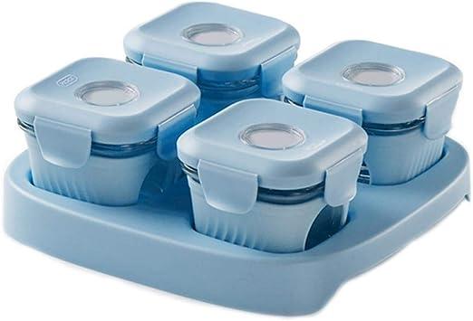 Fiambreras Para Niñosrecipientes Para Comida 4 Pack Vidrio Comida Microondas Calefacción Portátil Cute Ladies Lunch Box -A: Amazon.es: Hogar