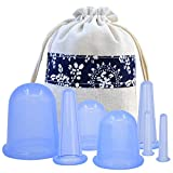 #5: MEILI Face & Body Cupping Therapy Suction Cup Set Of 7pcs Kit, Medical Silicone Massage Cellulite Cups For Pain Relief Relaxation and Cellulite removal