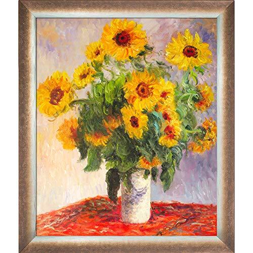 [해외]La Pastiche MON1478-FR-49413020X24 SunflowersSpoleto Bronze Framed Hand Painted Oil Reproduction 28 x 24 Multi / La Pastiche MON1478-FR-49413020X24 SunflowersSpoleto Bronze Framed Hand Painted Oil Reproduction 28 x 24 Multi