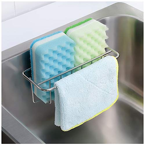 Stainless steel adhesive sponge holder