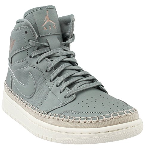 Jordan Womens Air 1 Retro Hi Premium Leather Basketball Shoes Green