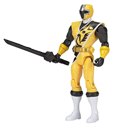 Power Rangers 43703 Action Figure Del Ranger Giallo Della Serie