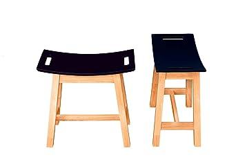 Tavolino da caffè set in gomma solida in legno tavolo con