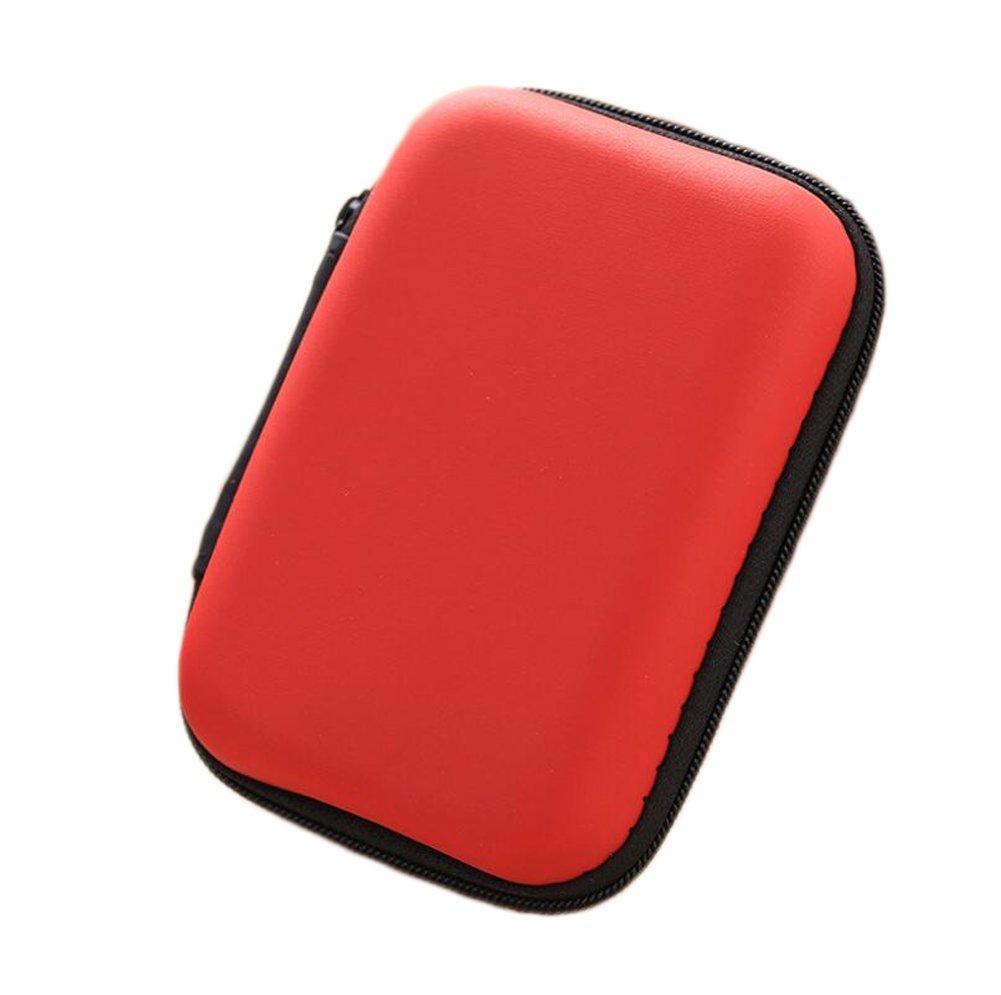 Westeng cuffia auricolare Storage Bag creativi piccoli accessori contenitore per il trasporto di, EVA, Black, taglia unica