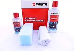 Kit Limpeza E Hidratação De Couro Wurth Limpa E Hidrata