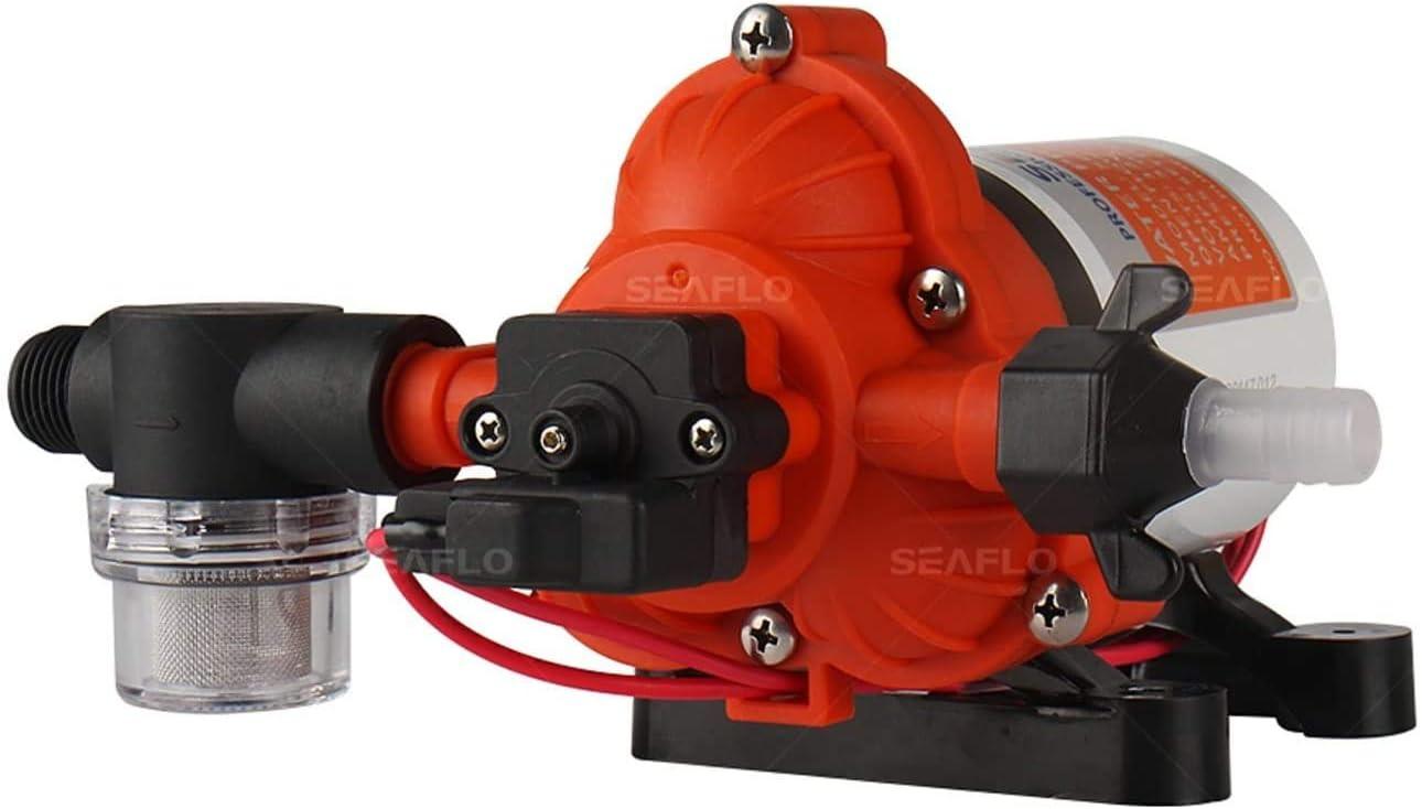 220VAC Bomba de presi/ón de agua industrial SEAFLO serie 33 con enchufe para tomacorriente de pared 45 PSI 3.3 GPM