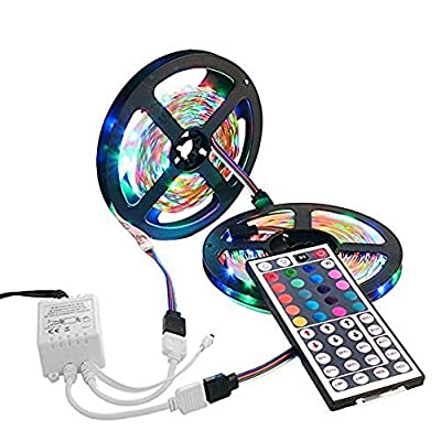 LED Strip Light, LAFEINA 3528 10M RGB Color Changing Flexible Tape Lighting Waterproof 600LEDs Strip Rope Light with 44 Key IR Remote Control for Indoor Outdoor Party Easter Day Decoration