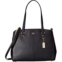 Coach Womens Stamped Snakeskin Stanton Carryall (Navy)