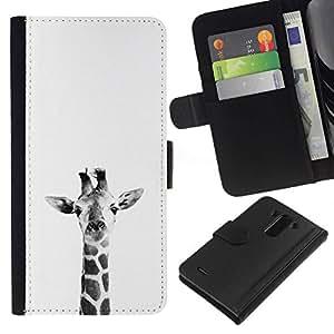 All Phone Most Case / Oferta Especial Cáscara Funda de cuero Monedero Cubierta de proteccion Caso / Wallet Case for LG G3 // White Black Minimalist Nature