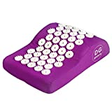 Acupressure Pillow - Purple / Acupuncture Pillow for Neck Pain Relief Treatment