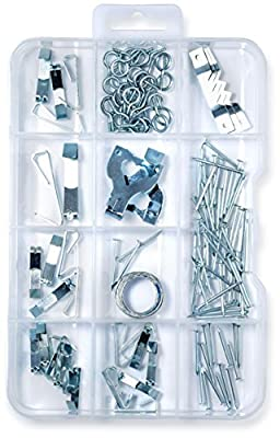 (120 Pieces) Picture Hanger Assortment Kit, Photo Picture Frame Mount Holder, Artwork Hanger, Clock, Paintings, Photos, Mirrors, Canvas, Paintings, Nails, Sawtooth Hangers. Hang Up To 30 Works Of Art.