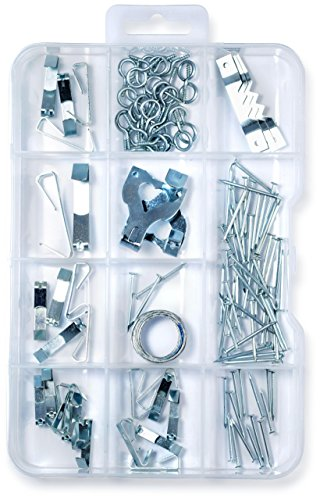 (120 Pieces) Picture Hanger Assortment Kit, Photo Picture Frame Mount Holder, Artwork Hanger, Clock, Paintings, Photos, Mirrors, Canvas, Paintings, Nails, Sawtooth Hangers. Hang Up To 30 Works Of - Mirror Guy Pictures