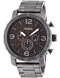 Mens Watch Fossil JR1355 Chronograph Stainless Steel Case and Bracelet Brown To