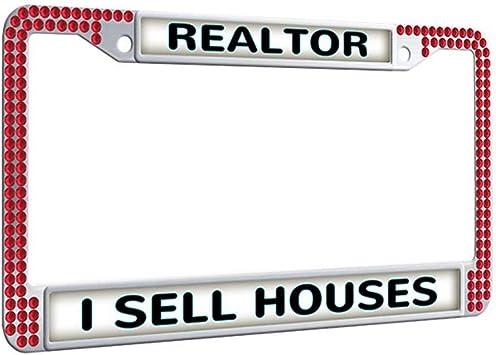 I SELL REAL ESTATE REALTOR Metal License Plate Frame Tag Holder