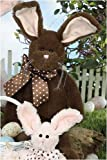 "Fudge 15"" Chocolate-Scented Easter Plush Stuffed Animal Bunny by Bearington"