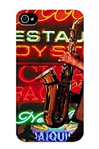 Freshmilk Durable Defender Case For Iphone 4/4s Tpu Cover(jazz Man Night) Best Gift Choice