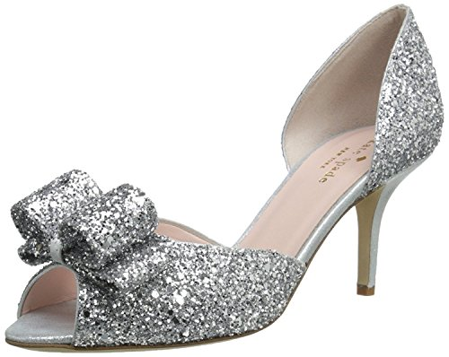 Sela spade Glitter Suede Liquid kate Women's new Silver Pump york Silver dIRgw7
