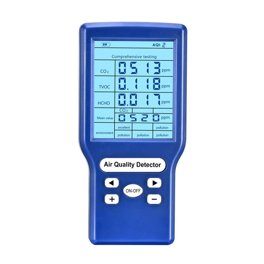 TTLIFE CO2-Messger/ät Kohlendioxid Tester Detektor 0-9999 PPM Hochpr/äzise Professionelle CO2 Melder 3,2-Zoll Tragbarer Farbdisplay Temperatur Relative Luftfeuchtigkeit,mit Datenexport Funktion
