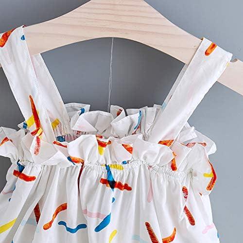 6M-4T Fossen Vestidos Beb/é Ni/ña Vestido sin Mangas con Volantes y Estampado de Girasol sin Mangas Diadema - Ropa Bebe Ni/ña Verano